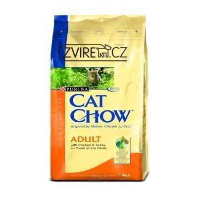 CAT CHOW 1.5kg Kuře a Krůta