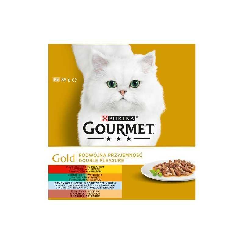GOURMET GOLD 8x85g mix dušených a grilovaných mas